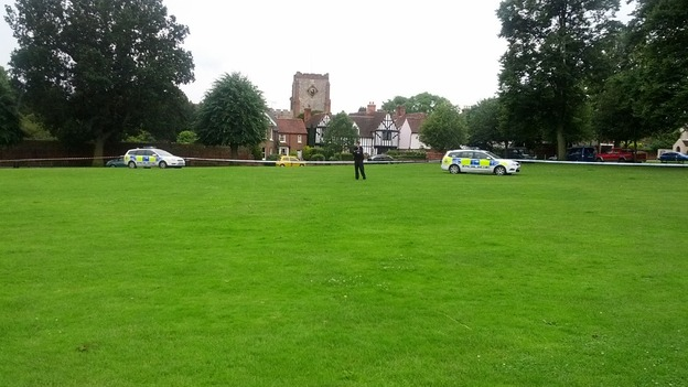 Part of Writtle Green has been cordoned off by Essex Police.