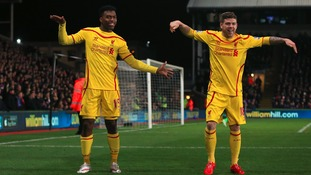 Daniel Sturridge and Alberto Moreno