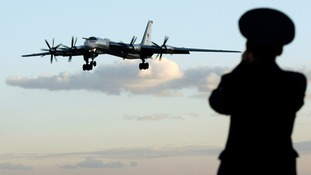 A file photo of a Russian Tu-95 bomber, known as a 'bear'.