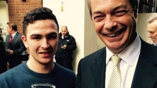 Parsons pictured with Nigel Farage.