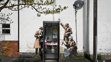 Banksy 'Spybooth' mural given listed status but without the phone box