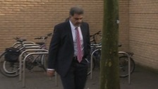 Saeed Akthar arriving at Cambridge Crown Court