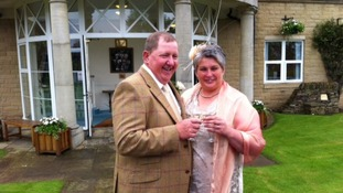 Anne and Kevin Robinson are the first couple to get married at the Great Yorkshire Show.