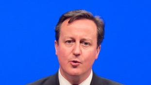 Prime Minister David Cameron speaking at the Scottish Conservative Party conference