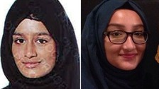 Shamima Begum, 15 (left), and Kadiza Sultana, 16 (right).