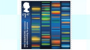 Stamp celebrating DNA sequencing