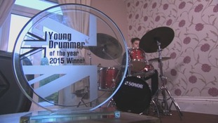 16-year-old Euan Leslie has won the title of Young Drummer of the Year