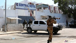 The Central Hotel in the Somali capital Mogadishu was targeted by suicide bombers.