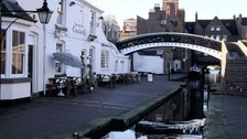 The Worcester Stop Lock at Gas Street Basin in Birmingham