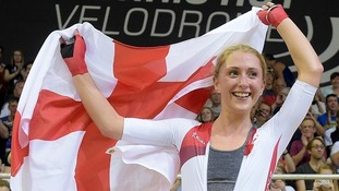 Laura Trott is taking part in the Cycling World Championships