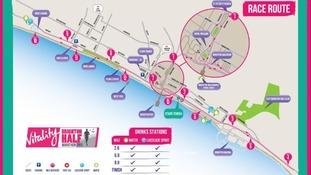 Brighton Half Marathon 2015 route