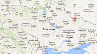 ukraine explosion hits kharkiv peace march itv news
