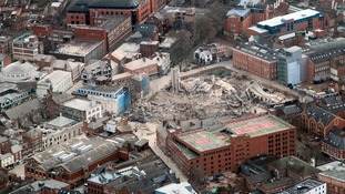 The levelled site once the dust had settled across the city