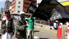 Al-Shabaab protesters in Nairobi in 2010.