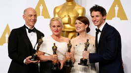 Eddie Redmayne wins Oscar as Birdman named Best Picture