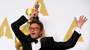Pawel Pawlikowski got a bit excited after winning Best Foreign Language film for Ida.