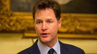 Nick Clegg commented on the row at an event in south London.