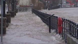 Flooding at Whitesands in December