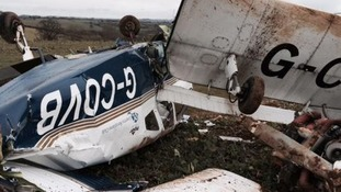The plane crashed at Shotteswell Farm airfield