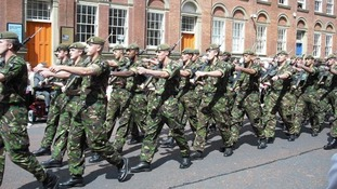 Heroes welcome for Yorkshire Regiment