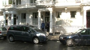 Mrs Rausing's body was found at their home in Chelsea in west London.