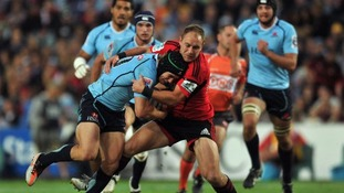 Heinz in action for the Crusaders