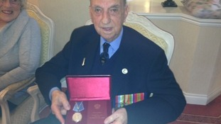 World War II veteran finally awarded medal recognising his bravery over 70 years ago