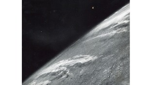 Lot 2: Clyde Holliday, - The first photograph from space, 24 October 1946