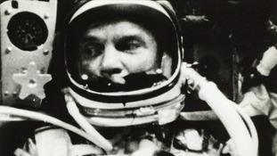 Lot 14: John Glenn inside the Friendship 7 capsule