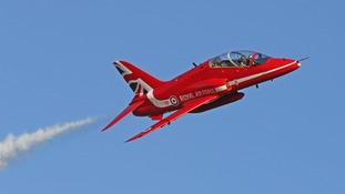 The Red Arrows are based at RAF Scampton