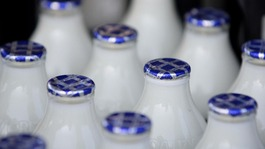 milk bottles