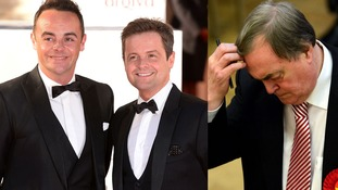 Ant and Dec hit back as Sir John Prescott's Brit Awards jibe.