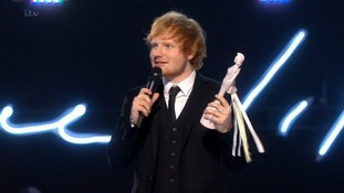Ed Sheeran wins British Male Solo Artist.