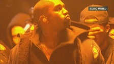 The audio was muted numerous times during Kanye West's performance.