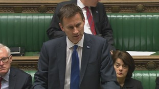 Jeremy Hunt speaking to the House of Commons.