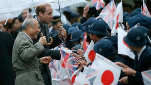 Prince William meets crowds in Tokyo