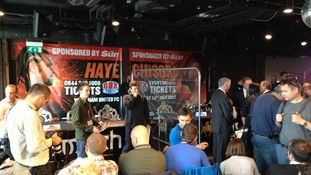 The venue for the Haye Chisora press conference.