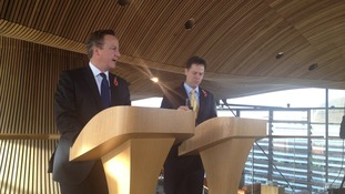 David Cameron and Nick Clegg in October 2013