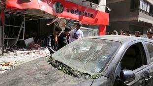 One of the five bombs exploded outside a Vodafone shop. One Person was killed and five others wounded after five bombs went off in the Egyptian capital.