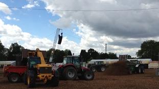 Tractors in Hyde Park.
