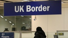 Border control at Gatwick Airport