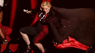 Madonna says Brits fall was not a publicity stunt