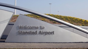 Sign at Stansted airport