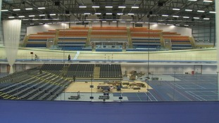 Inside the velodrome
