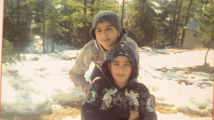 Ahmad with his brother Haris who was killed in the attack