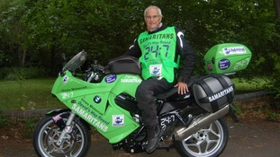 Charity biker David Exley