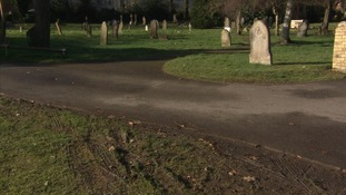 Tyre tracks and broken fences: school-run parents damage cemetery