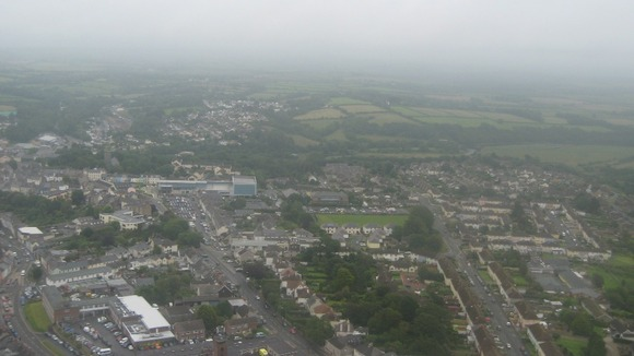 Looking down over Haverfordwest