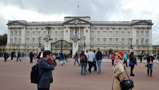 Video appears to show naked man falling from Buckingham Palace window