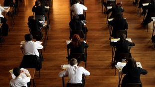 Pupils sitting exams at a secondary school
